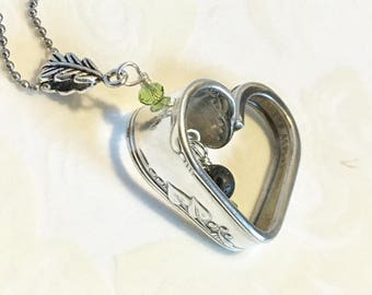 Silver Heart Necklace - Valentine - Silver Aromatherapy Necklace - Lava Stone