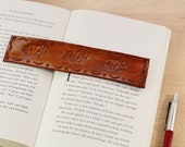 Bear Bookmark, Hand Tooled Leather Bookmark, Father's Day Gift, Papa Bear Bookmark, Leather Book Marks, Mama Bear Bookmark, Gift For Dad