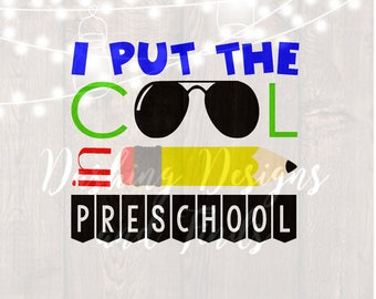 DIGITAL DOWNLOAD first day of school - preschool shirt - preschool svg - back to school svg - png files - 1st day of school