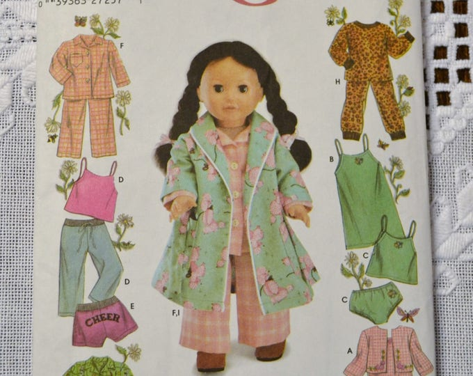 Vintage Simplicity 5276 Doll Pattern 18 inch Doll Wardrobe Clothing One Size  Sewing Pattern DIY Fashion Sewing Crafts PanchosPorch