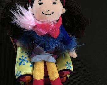 "Vintage 1990's Groovy Girls Kami Soft Plush 12"" Manhattan Toy Company Doll"