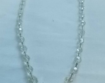 Sterling Silver and Crystal Necklace.  (588)