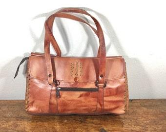 KaJane, 1970s, Brown Leather Purse, Bag, Shoulder Bag