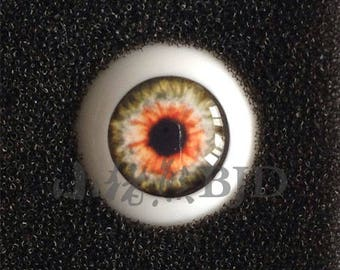 SALE STOCK  realistic dreamy orange green black BJD doll eyes 10mm