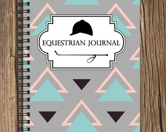 Equestrian Journal: Track your goals and riding lesson/schooling session progress (100 page Horse Note Book)