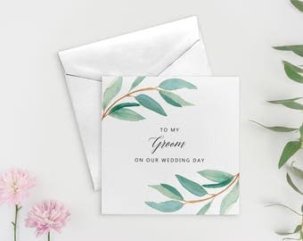 To my Husband on our Wedding Day, To My Groom Card, Wedding Day Card Groom, Groom Gift from Bride, SKU: WYB001
