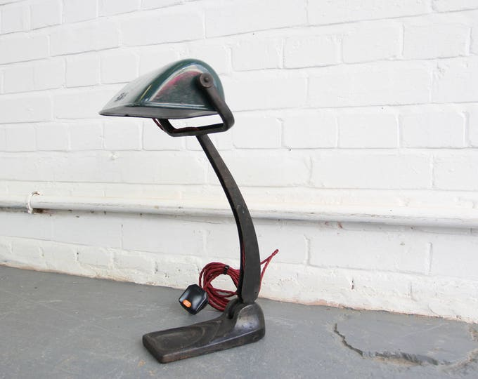 Art Deco Bankers Lamp By Erpe Circa 1920s