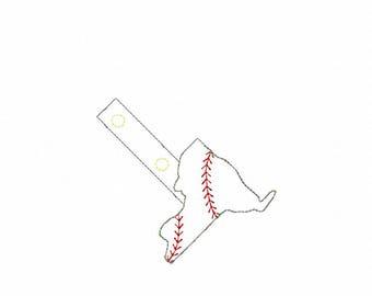 New York Baseball/Softball Outline Fob - In The Hoop - Snap/Rivet Key Fob - DIGITAL Embroidery Design