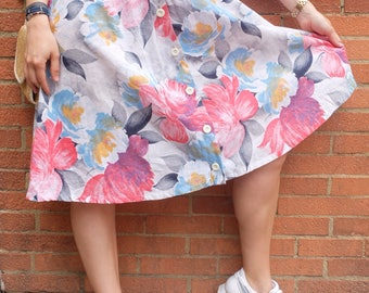 Vintage skirt, pleatd skirt, made in France, size S