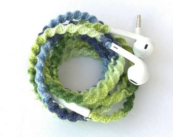 iPhone EarPods, Tangle Free Earbuds, Android Ear Buds Cables Summerfest Collection FUNKADELIC Macrame Wrapped Earbuds Lightning Cable iPod