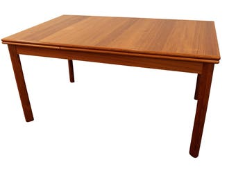 Mid-Century Modern Dining Table Danish Modern BRDR Furbo Extendable Teak Dining Table #2