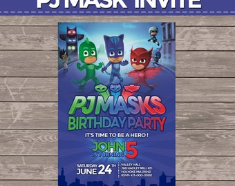 Pj mask invite (digital)