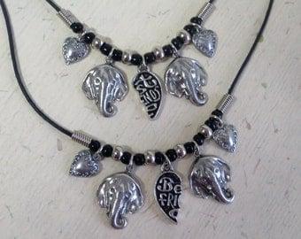 Best Friend Necklaces- Elephant charms CCS148
