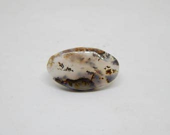 Dendritic agate cabochon for rings 21 x 13 mm, dendritic quartz cabochon, gemstone cabochon, oval cabochon shape