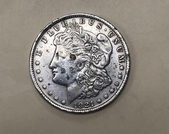 1921 Morgan US Silver Dollar Coin
