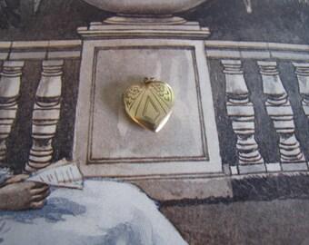 Vintage GF Engraved Heart Locket