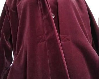Long velvet coat 1960-70