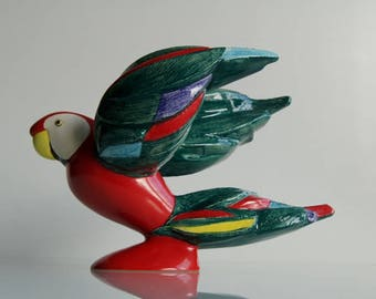 Porcelain Parrot model number 3893118 design by Selim 1984 for Goebel.