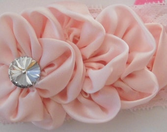 Large Satin and Lace Headbands