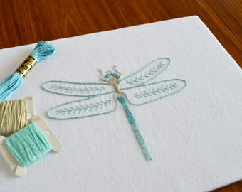 Anatomical Dragonfly hand embroidery pattern, modern embroidery, nature, insects, embroidery design, embroidery pattern, PDF pattern