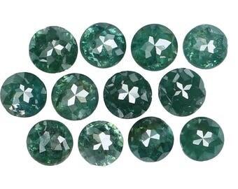1.25 Ct Natural Loose Diamond Round Rose Cut Blue Color 12 Pcs K3309