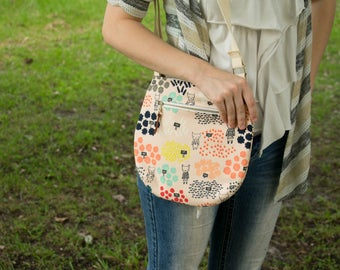 Zipper Tote, Gift Under 40, Animal Tote, Small Bag, Sling Purse