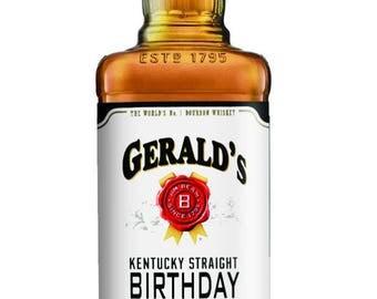 Jim Beam 750 mL Bourbon Birthday labels