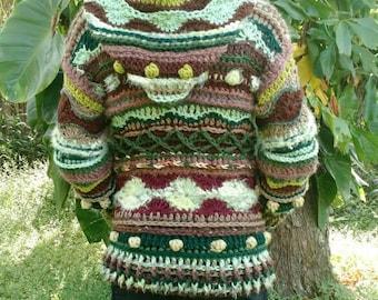 Custom freeform hoodie sweater psychedelic festival burner fashion