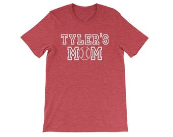 Personalized Baseball Mom Shirt, Custom Baseball Mom Shirt, Baseball Mom T Shirt, Women Baseball Shirt, Custom Baseball Mom T-Shirt