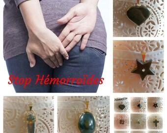 Hematite pendant necklace against HEMORRHOIDS