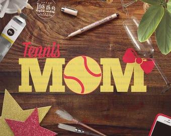 Tennis Mom svg, Tennis Shirt svg, Tennis Cut Files, Tennis Love svg, Tennis svg, Cut Files for Silhouette for Cricut