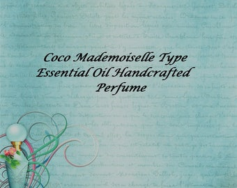 Coco Mademoiselle Type Perfume, Essential oil Perfume, Essential Oil Fragrance, Roll on Fragrance, Roll on Perfume, All natural perfume