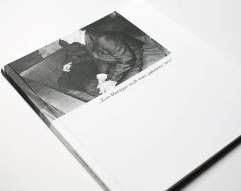 Zum Metzger muss man geboren sein - zine photobook
