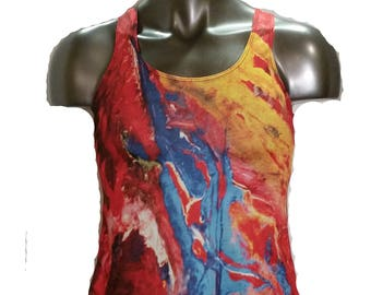 Womens Dry Fit Racerback Tank Top Made in USA