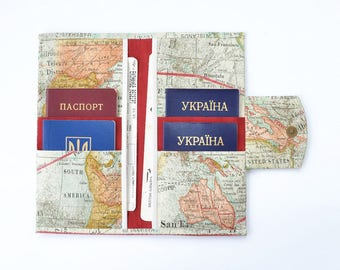 Travel wallet passport holder travel document organizer vegan family travel wallet 4 6 8 10 passport case family passport holder family travel document organizer gumiabroncs Image collections