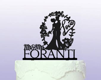 Personalised Wedding Arch Cake Topper