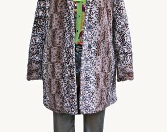 Women's coat Tanzania, with leopard pattern. Gr. 40/44