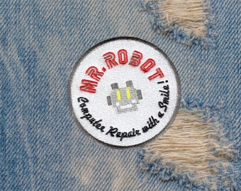 Something Different Large Round Mr. Robot Patch 8cm fsociety Badge for Shirt Hat Cap Jacket Great for Halloween Costume