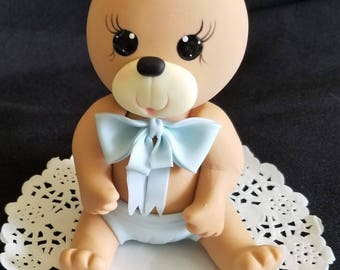 Teddy Bear Topper, Bear Baby Shower, Bear Cake Topper, Teddy Bear Topper, Bear for Cake, Girl Baby Bear, Bear Cake Topper, Boys Teddy Bear