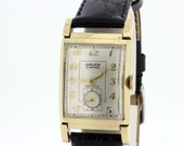 14K Yellow Gold Gruen Curvex Precision Wrist Watch
