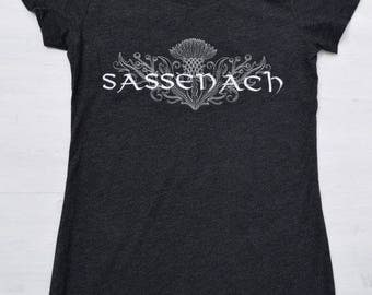 Sassenach Embroidered Tee, Scottish Thistle, Gifts for Readers, Bookish, Customize Shirt Color and Design Color!