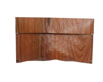 wood clutch - Rosewood