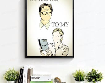 The Office TV Show Poster // Valentines Day Gift for Him - The Office TV Show Gifts // Dwight Schrute Poster - Angela Martin Poster