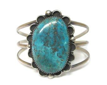 Large Vintage Southwestern Turquoise Cuff Bracelet