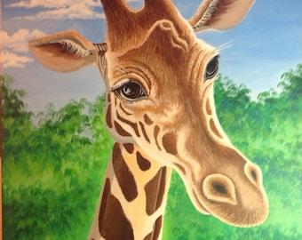 April the Giraffe Portrait