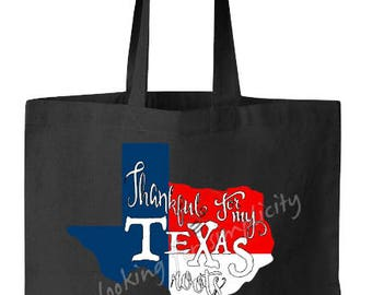 Thankful for my Texas Roots Natural Cotton Canvas Tote Bag