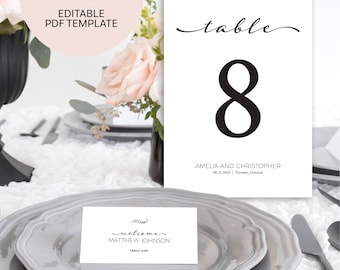 Wedding Table Numbers - Table Number Cards - Table Numbers Wedding - Table Numbers Printable - Table Numbers - Wedding Table Signs