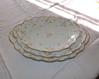 Stunning Limoges China Platter Elite Works BAWO DOTTER BWD29