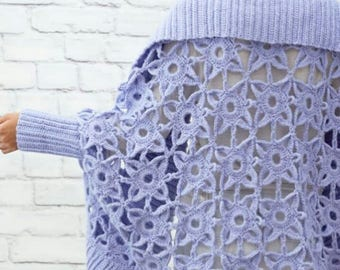 long-sleeve crochet bolero,cover up,handmade cardigan,summer dress,gift ideas,