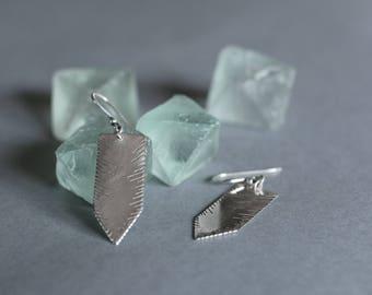 Sterling Silver Kim's Arrows Earrings